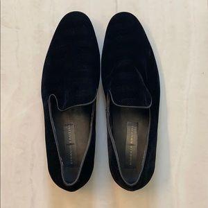 Men's Black Velvet Loafer 10.5